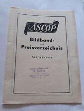 Antik Diafilm Bildband Preisverzeichnis ASCOP 1958 / 35 mm Diapositive 8 Seiten
