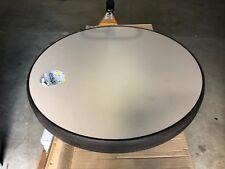 "INDOOR & OUTDOOR NEW PLASTIC TAN & CHOCOLATE ROUND TABLE TOPS 34"" x 2"""
