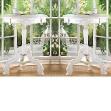 New 2x SHABBY-COTTAGE CHIC WHITE WOOD BED,LIVING-BATH ROOM,NIGHT STAND,END TABLE