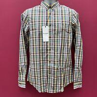 Mens Ben Sherman Slim Fit Soho Check Shirt 'Silver Bullet' - Small - Brand New