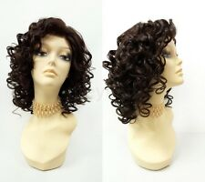 Pre-Trimmed Lace Front Dark Brown Curly Heat Resistant Wig Spiral Curls 13""