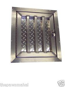 Tall Aluminum Dog Box Crate Kennel Door