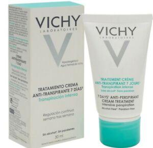 Vichy 7 Days Antiperspirant Cream Skin Treatment Deodorant 30ml Hyper Effective