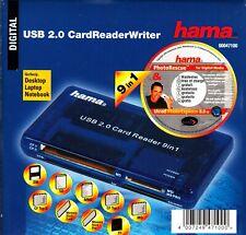 Hama Kartenleser USB 2.0 - 9 in 1 (Kartenlesegerät, CardReader) neu in OVP
