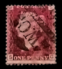 GB QV Penny Red  1858-79 1d  Letters SG  PR220  Free Registered Mail