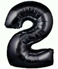 "34"" BLACK METALLIC JUMBO FOIL NUMBER 2 BALLOON"