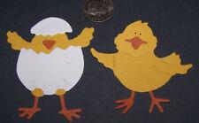 Scrapbook /& Card Making 3 Chickens Premade PAPER Die Cuts