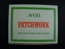 Avon Patchwork Perfumed Candle And Holder Cup Original Box Vintage 1970s