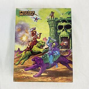 Masters Of The Universe He-Man MOTU 63 Piece Puzzle ETERNIAN BATTLEFIELD Golden