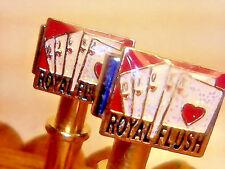 2  Royal Flush Red Cards Metal Cribbage Pegs With FREE Black Velvet Bag, USA  _