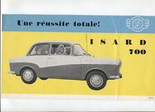 N°9753 /  HANS GLAS GMBH : Isard 700 : dépliant en français 1959