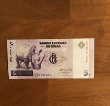 Congo Democratic Republic 5 Francs 1997 P-86a> UNC