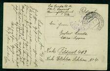 1917, Hungary Naval card, ship 'LEOPARD' purple circular date ship cancel