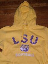 NEW LSU Tigers WOMEN VINTAGE OLD SCHOOL HOODED SWEATSHIRT SZ:M