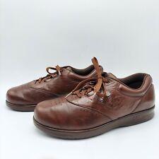 SAS Freetime women's brown leather sneaker shoes Size 8W Tripad Comfort walking