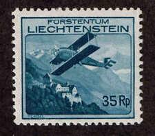 Liechtenstein # C-4  Airplane above Vaduz Castle. MH VF.  1930