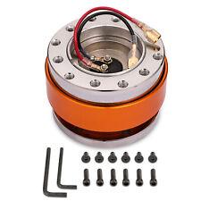 Universal Orange Steering Wheel Quick Release Hub Race Adapter Snap Off Boss Kit