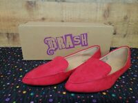 Brash Fern Red Loafers Women's Flat Shoes Size 8 New With Box