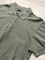 Armani Jeans Mens Designer Polo Shirt Short Sleeve Cotton Pique Top Grey NEW