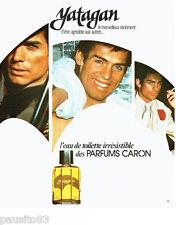 PUBLICITE ADVERTISING 016  1976  Caron  eau de toiette homme Yatagan