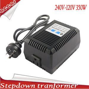 110V 350W Sinewave StepDown Transformer Electric Voltage Converter 240V-120V AC
