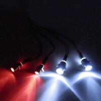4pcs LED 5mm&3mm Headlamps Head Tail LED lights For RC 1:10 On-Road Car Futaba