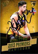 ✺Signed✺ 2013 HAWTHORN HAWKS AFL Premiers Card BEN STRATTON