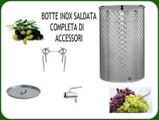 BOTTE INOX SALDATA FIORETTATA LT. 300 COMPLETA DI GALLEGGIANTE AD OLIO