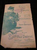 Partition Envoi de fleurs Paul Delmet Music Sheet