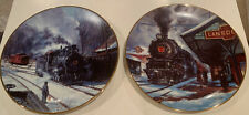 Hamilton Collection/Set of 10-Winter Rails Plate Collection by Ted Xaras/Trains