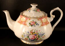 """Royal Albert Lady Carlyle Large Teapot 10"""" Long EXCELLENT CONDITION"""