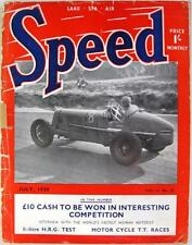 SPEED Magazine Jul 1938 - 1 1/2 Litre H.R.G Test, Motor Cycle TT Races,