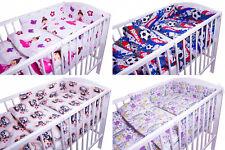 BABY BEDDING SET 2 3 5 6 PCS QUILT DUVET PILLOW CASE COVER TO FIT 120x60 COT