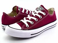Converse Chuck Taylor All Star Low Tops Maroon OX Womens Sneakers Shoes M9691