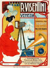 ADVERT CAMERA PHOTOGRAPHY VENICE ITALY VISENTINI POSTER ART PRINT BB1710A