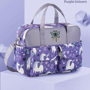 Purple Unicorn Baby Travel  Multi-Function Mummy Messenger Large Capacity