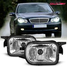 For 01-07 Mercedes-Benz C-Class PAIR Factory Fit Fog Light Bumper Clear Lens