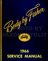 1966 Pontiac Body Shop Manual Catalina Grand Prix Bonneville GTO Tempest LeMans