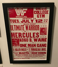 Vintage WWF Event Poster 1988 WWE Ultimate Warrior Wrestling