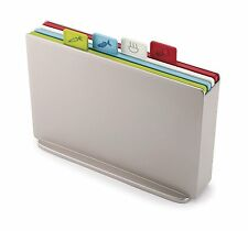 Joseph Joseph 60131 Index Plastic Cutting Board Set with Storage Case, Silver