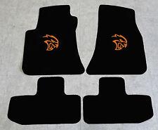 Autoteppich Fußmatten für Dodge Challenger Hellcat ab08' Velours orange 4tlg Neu