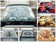 2 Ply Heavy Blanket Soft Thick Warm Bed throw Double Sided King/Double Size