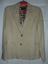 Beige pure linen jacket blazer 12 Per Una M&S BNWT new tags Marks and Spencer