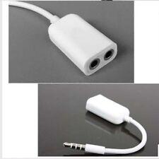 Earphone Y Splitter 3.5mm AUX Auxiliary Jack Audio Headphone Cable White-sx