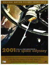 2001 A SPACE ODYSSEY MOVIE POSTER Original 90's Soundtrack Promo STANLEY KUBRICK