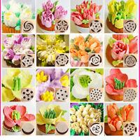 24Pcs Icing Piping Nozzles Pastry Tips Cake Sugarcraft Decorating Bakery Tool