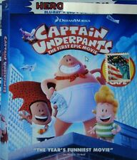 """Captain Underpants  """" Blu-Ray, Case, Artwork and Slipcover Ships 09/09"""