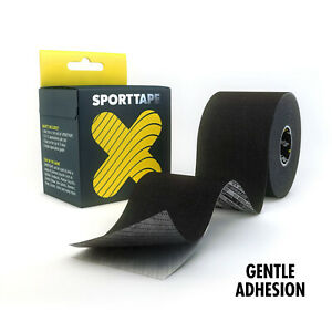 SPORTTAPE Gentle Adhesion Kinesiology Tape - Hypoallergenic Muscle Tape