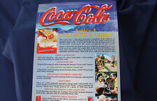 1995 Coca Cola Collection Series 4 by Collect-A-Card Promo Sheet