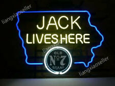 """18/""""x14/""""Jack Daniel/'s Neon Sign Light Real Glass Tube Beer Bar Pub Wall PosterLED"""